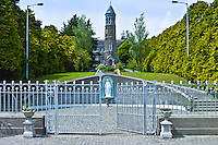 Church and statue of the Blessed Virgin Mary in Timoleague, County Cork, Ireland