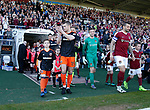 Paul Coutts of Sheffield Utd leads out the team during the English League One match at Sixfields Stadium Stadium, Northampton. Picture date: April 8th 2017. Pic credit should read: Simon Bellis/Sportimage