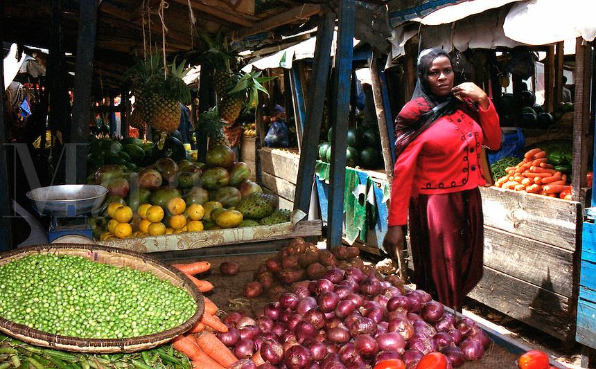 Tanzania Zanzibar Stone Town market