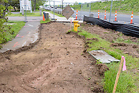 Boathouse at Canal Dock Phase II | State Project #92-570/92-674 Construction Progress Photo Documentation No. 11 on 23 May 2017. Image No. 02 Sidewalk Work
