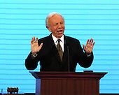 St. Paul, MN - September 2, 2008 -- United States Senator Joseph Lieberman (Independent Democrat of Connecticut) speaks in support of his friend, United States Senator John McCain (Republican of Arizona) at the 2008 Republican National Convention in St. Paul, Minnesota on Tuesday, September 2, 2008..Credit: Ron Sachs / CNP.(RESTRICTION: NO New York or New Jersey Newspapers or newspapers within a 75 mile radius of New York City)