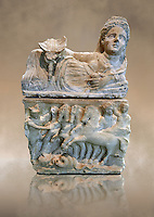 150-27 B.C Etruscan Hellenistic style cinerary urn,  National Archaeological Museum Florence, Italy