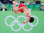 Kenzo Shirai (JPN), <br /> AUGUST 6, 2016 - Artistic Gymnastics : <br /> Men's Qualification <br /> Floor Exercise <br /> at Rio Olympic Arena <br /> during the Rio 2016 Olympic Games in Rio de Janeiro, Brazil. <br /> (Photo by Sho Tamura/AFLO SPORT)