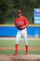 Philadelphia Phillies pitcher Luis Carrasco (67) gets ready to deliver a pitch during an Instructional League game against the Toronto Blue Jays on October 7, 2017 at the Englebert Complex in Dunedin, Florida.  (Mike Janes/Four Seam Images)
