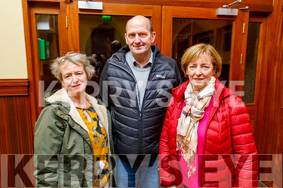 Mary Ladden, Peter and Jackie Nagle from Castlemaine attending the monthly devotions to Padre Pio in Saints Stephen and John's Church in Castleisland on Tuesday.