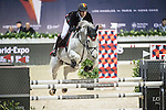 Nicola Philippaerts of Belgium riding on H&M Zilverstar T competes during the EEM Trophy, part of the Olivier Philippaerts of Belgium riding on Ikker competes during the EEM Trophy, part of the Longines Masters of Hong Kong on 10 February 2017 at the Asia World Expo in Hong Kong, China. Photo by Weixiang Lim / Power Sport Images