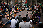 Occupy Wall Street members attend the Spring training season at Zuccotti park in New York, United States. 23/03/2012.  Photo by Eduardo Munoz Alvarez / VIEWpress.
