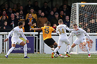 Dan Wishart of Maidstone takes on the Torquay United defence during Maidstone United vs Torquay United, Emirates FA Cup Football at the Gallagher Stadium on 9th November 2019