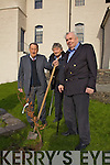 Past Chairmen of ACARD planting a tree as part of National Tree Week at the RIC Barracks in Cahersiveen pictured l-r; Joe C.Keating, Christy O'Neill & Jim Sugrue.