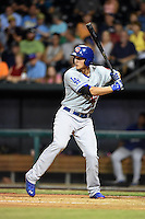Chattanooga Lookouts shortstop Corey Seager (12) at bat during game three of the Southern League Championship Series against the Jacksonville Suns on September 12, 2014 at Bragan Field in Jacksonville, Florida.  Jacksonville defeated Chattanooga 6-1 to sweep three games to none.  (Mike Janes/Four Seam Images)