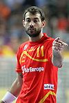 Dani Sarmiento. SPAIN vs SLOVENIA: 26-22 - Semifinal.