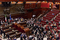 Roma, 30 Gennaio 2015<br /> Camera dei Deputati - Elezione del Presidente della Repubblica<br /> Seconda votazione.<br /> Panoramica dell'Aula.<br /> Rome, January 30, 2015<br /> Chamber of Deputies - Election of the President of the Republic<br /> Second Vote.