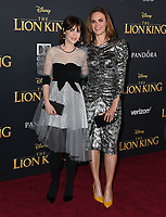 "09 July 2019 - Hollywood, California - Zooey Deschanel, Emily Deschanel. Disney's ""The Lion King"" Los Angeles Premiere held at Dolby Theatre. <br /> CAP/ADM/BT<br /> ©BT/ADM/Capital Pictures"