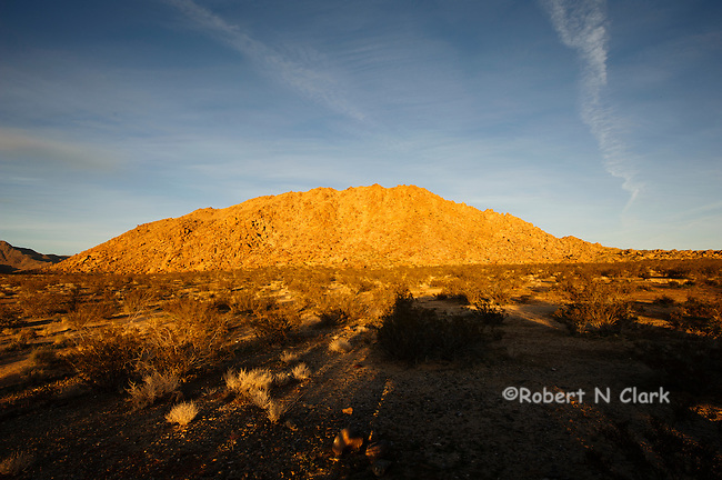 North Lucerne Valley area of the Mojave Desert in the late afternoon