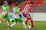 Atletico de Madrid's Silvia Meseguer (r) and VfL Wolfsburg's Carolina Graham Hansen during UEFA Womens Champions League 2017/2018, 1/16 Final, 1st match. October 4,2017. (ALTERPHOTOS/Acero)