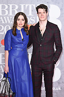 LONDON, UK. February 20, 2019: Aimee Lee Wood & Connor Swindells arriving for the BRIT Awards 2019 at the O2 Arena, London.<br /> Picture: Steve Vas/Featureflash<br /> *** EDITORIAL USE ONLY ***