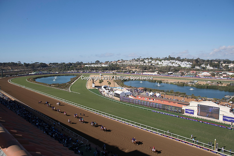 DEL MAR, CA - NOVEMBER 04: Horses take the track as they prepare for TwinSpires Breeders' Cup Sprint on Day 2 of the 2017 Breeders' Cup World Championships at Del Mar Thoroughbred Club on November 4, 2017 in Del Mar, California. (Photo by Ting Shen/Eclipse Sportswire/Breeders Cup)