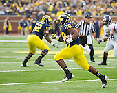 The University of Michigan football team beat Northwestern, 38-31 in overtime, at Michigan Stadium in Ann Arbor, Mich., on November 10, 2012.