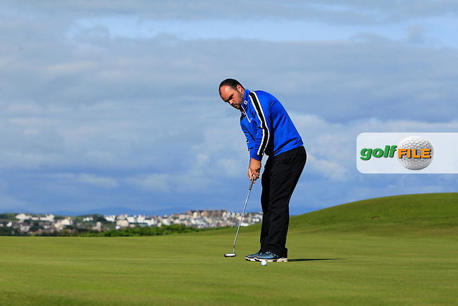 Jordan Hood (Galgorm Castle) on the 3rd green during Round 3 of Matchplay in the North of Ireland Amateur Open Championship at Portrush Golf Club, Portrush on Thursday 14th July 2016.<br /> Picture:  Thos Caffrey / www.golffile.ie
