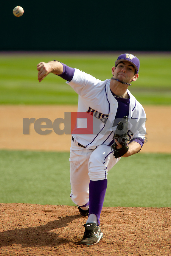 The University of Washington baseball team competes against Gonzaga University at Husky Ballpark  in Seattle, Wash. on Tuesday April 10, 2012.(Photo by Scott Eklund /Red Box Pictures) .Tyler Kane.