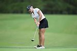 Jennifer Kupcho of the Wake Forest Demon Deacons putts the ball on the fourth green during second round action at the Ruth's Chris Tar Heel Invitational on October 14, 2017 in Chapel Hill, North Carolina. (Brian Westerholt/Sports On Film)