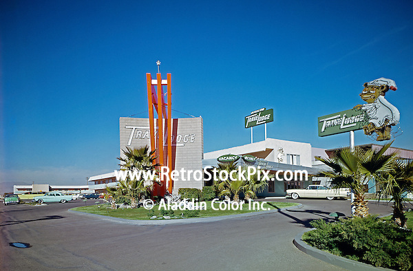 Travelodge, Las Vegas Strip, Nevada, Exterior with Neon Signs