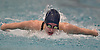 Morgan Rinn of Oceanside competes in the 100-yard butterfly event during the Nassau County girls swimming championships and state qualifier meet at Nassau Aquatic Center in East Meadow on Saturday, Nov. 3, 2018. She won the event with a time of 55.96.