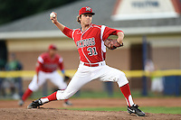 Batavia Muckdogs pitcher Steven Farnworth (31) delivers a pitch during a game against the Jamestown Jammers on July 25, 2014 at Dwyer Stadium in Batavia, New York.  Batavia defeated Jamestown 7-2.  (Mike Janes/Four Seam Images)