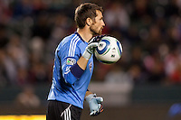 Colorado Rapids keeper Matt Pickens on his way to a clean sheet. The Colorado Rapids defeated CD Chivas USA 1-0 at Home Depot Center stadium in Carson, California on Saturday March 26, 2011...