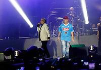 Nino D'Angelo festeggia i suoi 60 anni con un concerto nello stadio San Paolo di Napoli<br /> nella foto con Franco Ricciardi