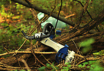 Trash dumped off the trail in the Esopus Bend Nature Preserve, in Saugerties, NY, on Tuesday, September 5, 2017. Photo by Jim Peppler. Copyright/Jim Peppler-2017.