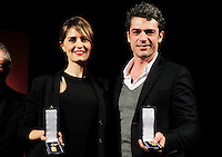 Giornate Professionali del Cinema 2014     Paola Cortellesi and <br /> Luca Argentero during the professional days of cinema in Sorrento december 03 , 2014