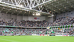 Stockholm 2014-06-18 Fotboll Superettan Hammarby IF - GAIS :  <br /> Hammarbys supportrar norra kurvan av Tele2 Arena innan matchen<br /> (Foto: Kenta J&ouml;nsson) Nyckelord:  Superettan Tele2 Arena Hammarby HIF Bajen GAIS supporter fans publik supporters