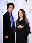 Takumi Saito and designer Tae Ashida attend Tae Ashida Fashion Show 2017 S/S Amazon Fashion Week Tokyo at Tokyo Japan on 17 Oct 2016. (Photo by Motoo Naka/AFLO)