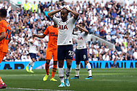 Lucas of Tottenham Hotspur puts his head in his hands after missing a chance during Tottenham Hotspur vs Newcastle United, Premier League Football at Tottenham Hotspur Stadium on 25th August 2019