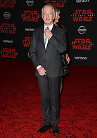 Anthony Daniels at the world premiere for &quot;Star Wars: The Last Jedi&quot; at the Shrine Auditorium. Los Angeles, USA 09 December  2017<br /> Picture: Paul Smith/Featureflash/SilverHub 0208 004 5359 sales@silverhubmedia.com