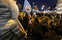 A general view of The Etihad as fans welcome the arrival of the Manchester City team bus<br /> <br /> Photographer Rich Linley/CameraSport<br /> <br /> UEFA Champions League Round of 16 Second Leg - Manchester City v FC Schalke 04 - Tuesday 12th March 2019 - The Etihad - Manchester<br />  <br /> World Copyright &copy; 2018 CameraSport. All rights reserved. 43 Linden Ave. Countesthorpe. Leicester. England. LE8 5PG - Tel: +44 (0) 116 277 4147 - admin@camerasport.com - www.camerasport.com