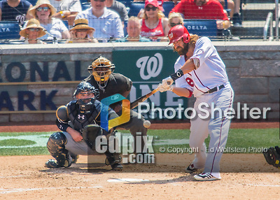 24 July 2016: Washington Nationals outfielder Jayson Werth in action against the San Diego Padres at Nationals Park in Washington, DC. The Padres defeated the Nationals 10-6 to take the rubber match of their 3-game, weekend series. Mandatory Credit: Ed Wolfstein Photo *** RAW (NEF) Image File Available ***