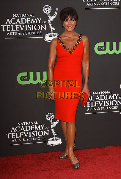 COLLEEN ZENK PINTER.36th Annual Daytime Emmy Awards held At The Orpheum Theatre, Los Angeles, California, USA..August 30th, 2009.emmys full length red dress clutch bag .CAP/ADM/KB.©Kevan Brooks/AdMedia/Capital Pictures.