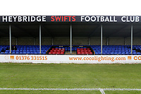 General view of the main stand during Heybridge Swifts vs Carshalton Athletic, FA Trophy Football at The Aspen Waite Arena on 7th October 2017
