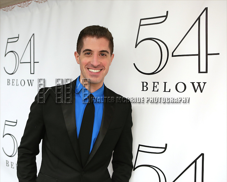 "Will Nunziata backstage before performing ""Broadway, Our Way"" at 54 Below on January 9, 2014 in New York City."