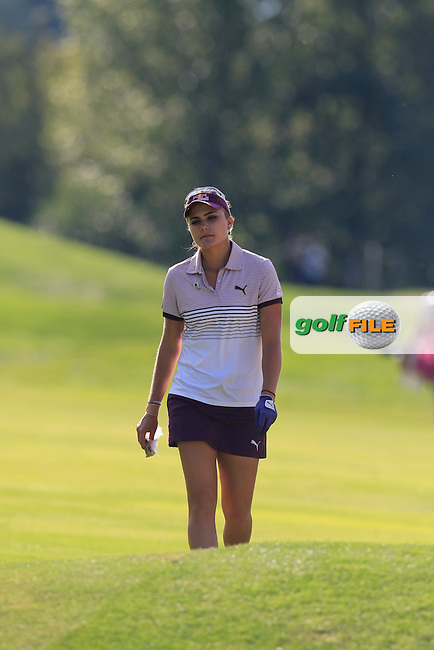 during Friday's Round 2 of the LPGA 2015 Evian Championship, held at the Evian Resort Golf Club, Evian les Bains, France. 11th September 2015.<br /> Picture Eoin Clarke   Golffile