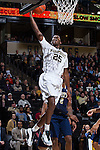 Cornelius Hudson (25) of the Wake Forest Demon Deacons drives to the basket during first half action against the Pittsburgh Panthers at the LJVM Coliseum on March 1, 2015 in Winston-Salem, North Carolina.  The Demon Deacons defeated the Panthers 69-66.  (Brian Westerholt/Sports On Film)