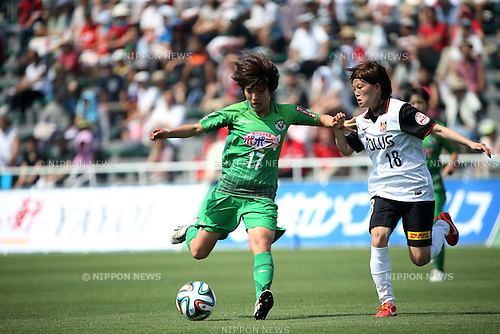 Rin Sumida (NTV BELEZA),<br /> JUNE 1, 2014 - Football / Soccer : Plenus Nadeshiko League 2014 Regular series between NTV BELEZA 0-2 Urawa Reds LADIES at Ajinomoto Field Nishigaoka Stadium, Tokyo, Japan. (Photo by Jun Tsukida/AFLO SPORT)