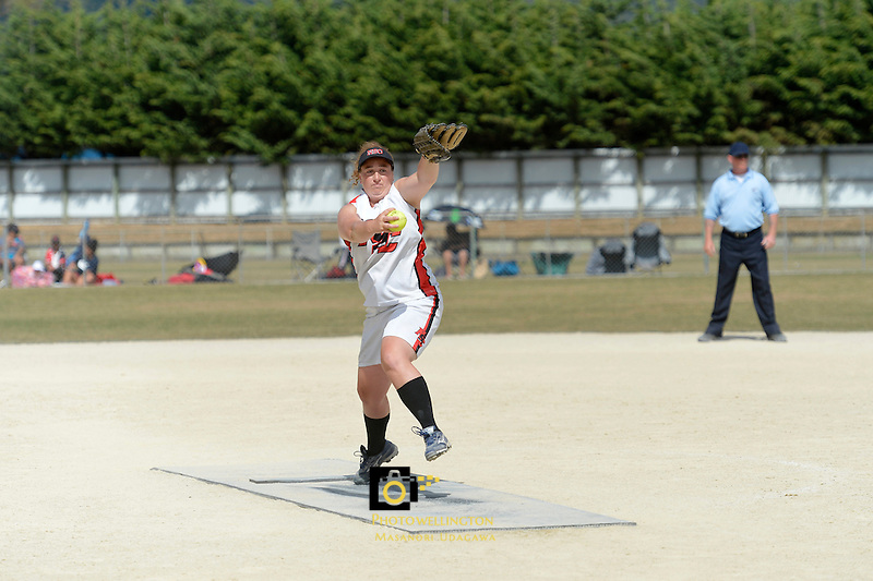 Open Womens Softball Club Championships at Fraser Park, Lower Hutt, New Zealand on Saturday 16 March 2013..Photo by Masanori Udagawa .www.photowellington.Photoshelter.com.