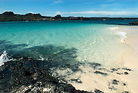 Chinese Hat (Sombrero Chino) is a little island off the southeastern tip of Santiago that from a distance has the shape of a Chinese hat. It is a fairly recent volcanic cone and the crystal clear waters make the snorkeling here fantastic...