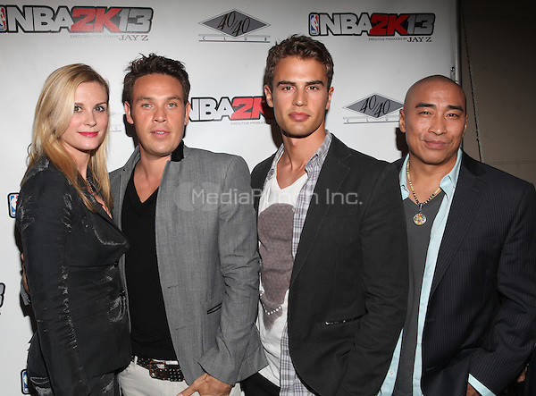 NEW YORK, NY - SEPTEMBER 26: Bonnie Somerville and Kevin Alejandro in attendance as JAY Z hosts the premiere of 2K Sports' NBA2K13 at his very own 40/40 nightclub in New York City and enjoying a performance by Meek Mill. 40/40 Club in New York City. September 26, 2012. © Diego Corredor/MediaPunch Inc.