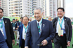 Yoshiro Mori, <br /> AUGUST 2, 2016 : <br /> Welcome ceremony for the Japanese delegation <br /> during the Rio 2016 Olympic Games <br /> at Athlete's Village, in Rio de Janeiro, Brazil. <br /> (Photo by Yohei Osada/AFLO SPORT)
