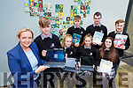 Killarney Community College students working with Surface Pro's for Windows 365 the schoool in one of forty one schools nationwide involved in the Senior cycle review l-r: Stella Loughnane, Brian Harrington Roisin Wall, Caoimhe Maddigan, Amy Kelly back row: Ger Cronin, Evan Kissane and JP Reen