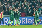 12.03.2018, Weser Stadion, Bremen, GER, 1.FBL, Werder Bremen vs 1.FC Koeln, im Bild<br /> <br /> Jubel 1 zu 0 Milot Rashica (Neuzugang Werder Bremen #11) mit Theodor Gebre Selassie (Werder Bremen #23)<br /> Milot Rashica (Neuzugang Werder Bremen #11) Thomas Delaney (Werder Bremen #6)<br /> <br /> <br /> Foto &copy; nordphoto / Kokenge